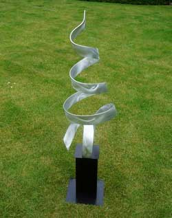 a contemporary metal sculpture - main