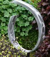 Silver Metal Garden Sculpture