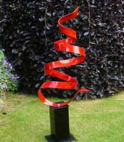 ribbon garden sculpture